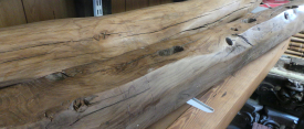 Finished oak beams (sanded, stained, treated and waxed)