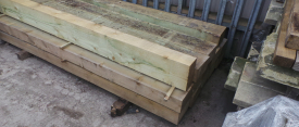 New soft wood sleepers