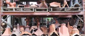 Terracotta finials ridge tiles