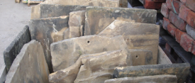 Stone roofing slates